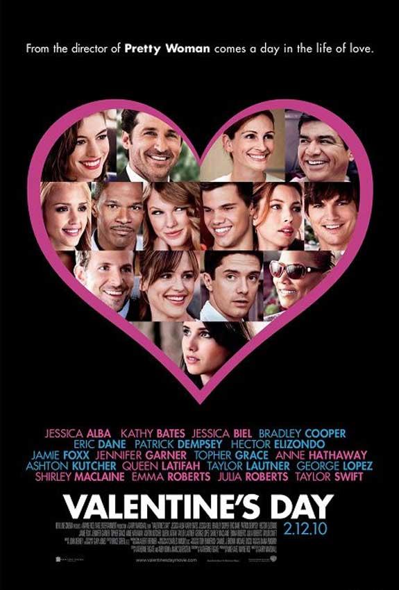 Valentine's Day starring Taylor Lautner, Ashton Kutcher, Jessica Biel, Jessica Alba, Bradley Cooper, Julia Roberts, Jennifer Garner, Anne Hathaway, Patrick Dempsey, Eric Dane